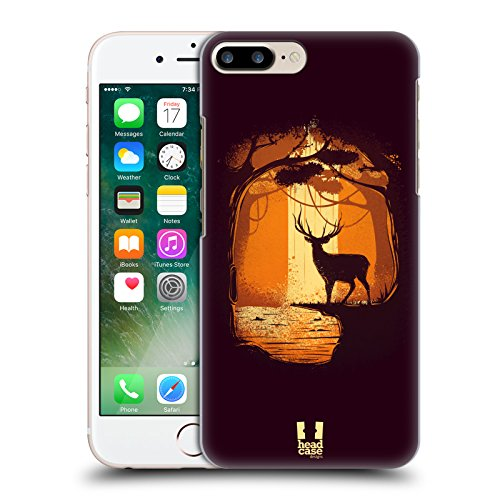 Head Case Designs Lupo Guanti Incantati Cover Retro Rigida per Apple iPhone 7 Plus / 8 Plus Renna