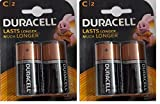 #1: Duracell Alkaline Battery C2 pack of 2 (4 cell)