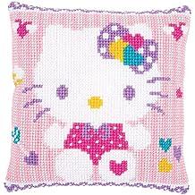 Vervaco - Kit de cojín de punto de cruz, diseño de Hello Kitty: Pastel