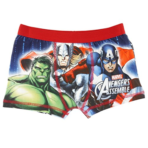 Marvel de Los Vengadores montar Boxer pantalones cortos para niños – rojo  rojo rosso 9- 37f583dd3eb