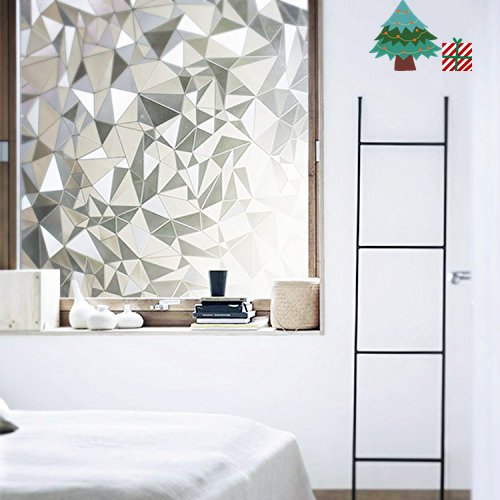 Lifetree Fensterfolie Dekorfolie Lichtbrechung Fensterschutzfolie ohne Klebstoff 90*200CM/030 Zerkleinerte Steine