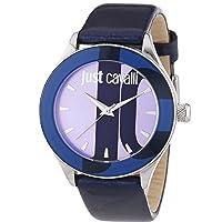 Just Cavalli R7251592503 - Reloj para mujeres, correa de cuero color azul de Just Cavalli