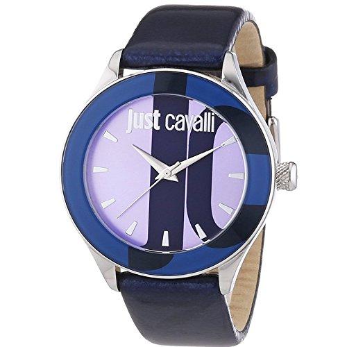 Just Cavalli - R7251592503 - Montre Femme - Quartz Analogique - Bracelet Cuir Bleu