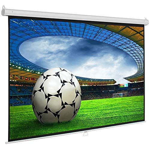 SlenderLine Base Beamer Leinwand 180 x 138 cm | Format 4:3 | 1.2 Gain | Full-HD 4K & 3D geeignet | manuelle Rolloleinwand | Heimkino und Präsentation | Decken- BZW. Wandmontage