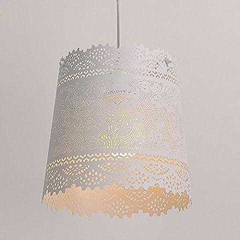 Diseño de flores de Creative perforadas Cafe Bar pendientes de lámpara de techo Corridor balcones entrada reloj de pared con péndulo luces lámpara de