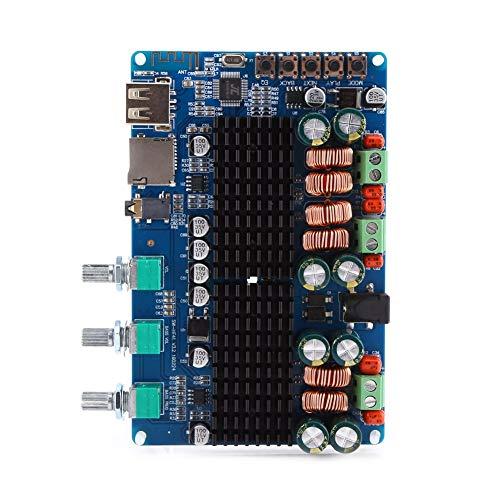 Akozon Digital 2.1 Kanal Verstärkerplatine Bluetooth USB TF Eingang 50W + 50W Stereo 100W Subwoofer Ausgang Home Stereo Verstärker für Lautsprecher (Stereo-lautsprecher-verstärker)