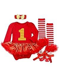 6203dc1d83f1a Amazon.fr   robe noel bebe 1 mois - Multicolore   Robes   Bébé fille ...