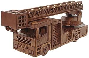 Artymon Kit de Madera Camión de Bomberos Color marrón Keranova 5003