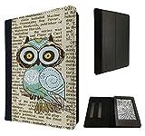 Cute Owl Vintage newspaper Funky Design Print Design Fashion Trend Amazon Kindle Paperwhite Paper White 6