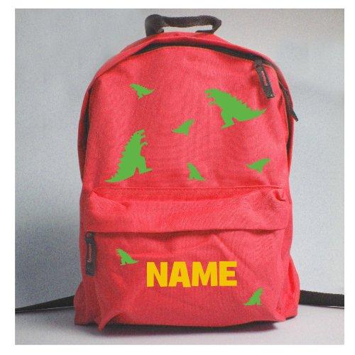 childrens-personalised-dinosaur-rucksack-red
