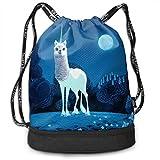 Rtytgfdw Multi-Functional Unisex Funny Llama Unicorn Llamcorn Casual Print Crossbody Bag