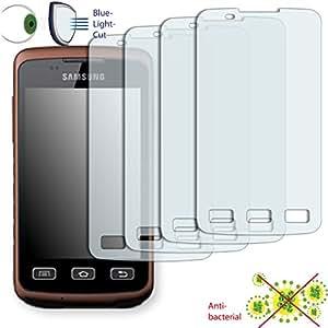 4x DISAGU CLEARS tactile Film de protection d'écran pour Samsung S5690Galaxy Xtreme Anti Bactérien, Bluel Ight Cut Filtre de protection d'écran