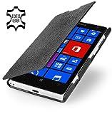 StilGut UltraSlim Book Type Style esclusiva custodia in vera pelle per Nokia Lumia 1020, nero
