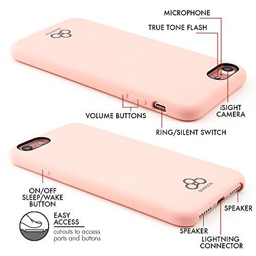 "Case für iPhone 8 / iPhone 7 (4,7"") Thin Fit Hülle ""Silex"" - Silikon Silicone Tasche für iPhone 7 / 8, Schutzhülle mit Soft Feel Coating in Navy Blau - iPhone Hülle iPhone7 von QUADOCTA® Idealer Schut Rosa"