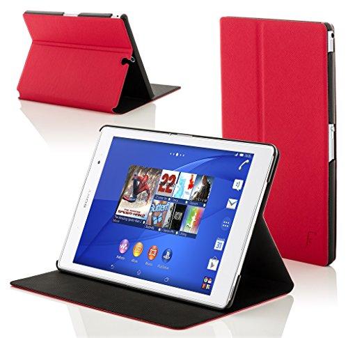 """Forefront Cases® Sony Xperia Z3 Tablette Compact 8 Pouces 8"""" SGP611 Étui Housse Coque Smart Case Cover Stand - Ultra Mince avec Protection complète de l'appareil et Fonction Intelligente Veille / Réveil Automatique (ROUGE)"""