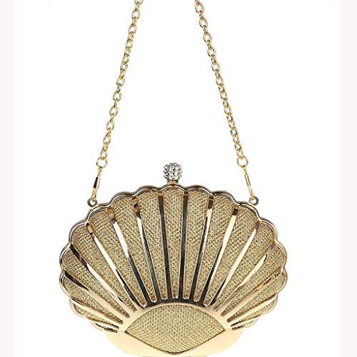 Nuovo pacchetto banchetto borsa da sera vestito da modo del sacchetto di banchetto mini guscio diamante del cinturino dell'orologio mano ( Colore : Nero ) Oro