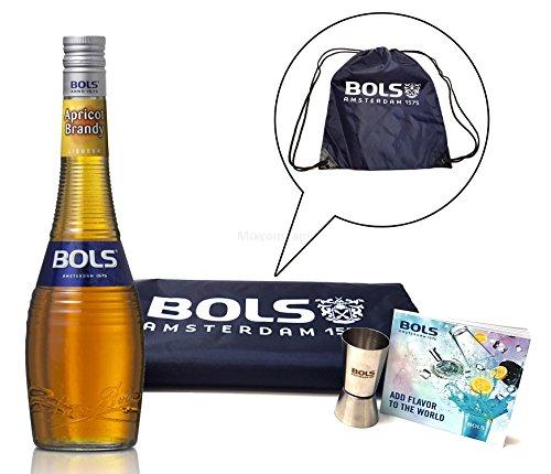 Bols Set - Apricot Brandy Likör 70cl (24% Vol) + Sporttasche + Jigger + Anleitung