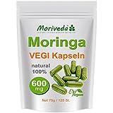 Moringa 125 VEGI capsules à fortes doses 600mg - 100% végétarien cru (1x125)