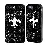 Head Case Designs Offizielle NFL Marmor 2017/18 New Orleans Saints Schwarz Fender Hülle für Apple iPhone 7 Plus/iPhone 8 Plus