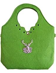 Trachtenland - Trachtentasche kleiner Shopper mit Edelweiß oder Hirsch Applikation