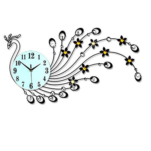 horloge murale Maison Ameublement Fournitures Chambre Salon Mur Decorati Q (Couleur : Noir, Forme : A)