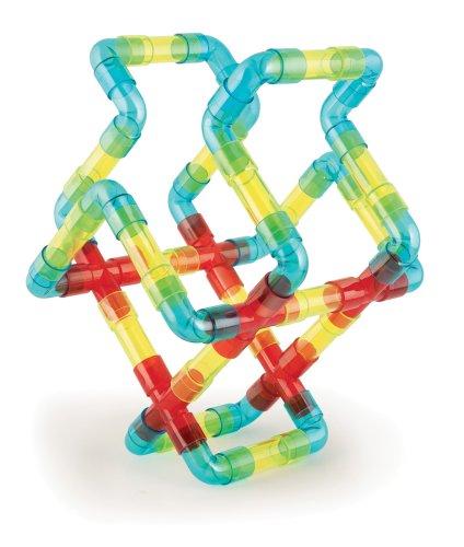 Quercetti-4177-Juego-de-tubos-para-montar-70-piezas-transparentes