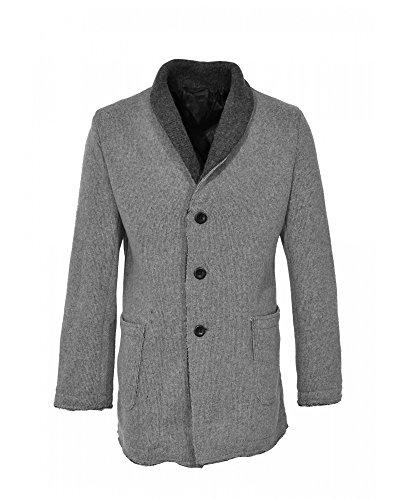 YES ZEE by ESSENZA Cappotto in lana bicolore chiusura monopetto con bottoni (52)