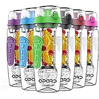 2 x Trinkflasche Obsteinsatz Detox Flasche Infuser Bottle Obsttrinkflasche grün