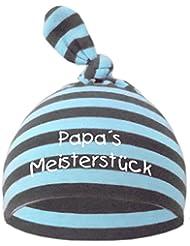Baby Mütze bedruckt mit PAPAS MEISTERSTÜCK / in 9 Farben