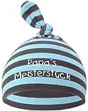 KLEINER FRATZ Baby Mütze bedruckt mit PAPAS MEISTERSTÜCK (Farbe hellblau-grau) (Gr. 0-74)