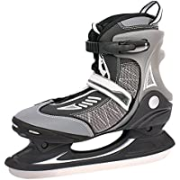 Hockey su ghiaccio pattini da ghiaccio 383940414243nuovo semi-soft Boots foderato schonern argento nero, nero, 38