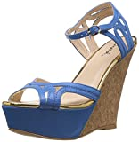 Qupid Women's Megan Light Blue Fashion Sandals - 8 US/ 38.5 EU at amazon