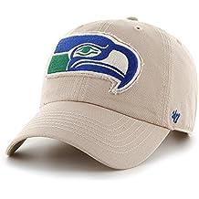 "Seattle Seahawks 47 Brand NFL ""Wright"" Clean Up Adjustable Hat Hut - Khaki"