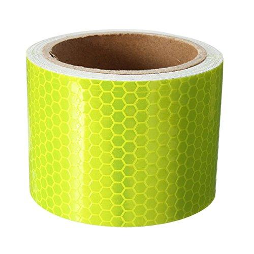 GOZAR 10Ft Fluoreszierende Gelbe Reflektierende Sicherheitswarnung Auffälligkeit Tape Film Aufkleber