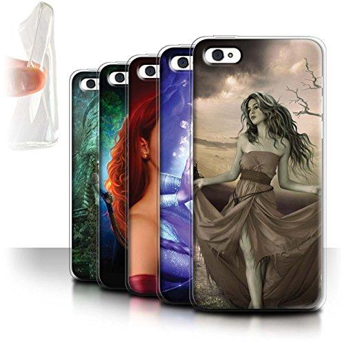 Officiel Elena Dudina Coque / Etui Gel TPU pour Apple iPhone 5C / Pack 5pcs Design / Caractère Conte Fées Collection Pack 5pcs