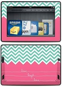 DecalGirl Skin-Kit für den neuen Kindle Fire HD (3. Generation - 2013 Modell), Live Laugh Love