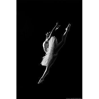 Sprung Ballett Tanzen Musik Tutu SW Frau Ballerina Postereck Poster 0016