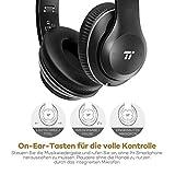 TaoTronics Bluetooth Kopfhörer Over Ear Headset mit leichtem Rückstellschaum Ohrpolster & Dual 40mm Treiber, 15 Stunden Spielzeit, EQ Bass, 3,5 mm AUX, On-Ear Steuerung - 5