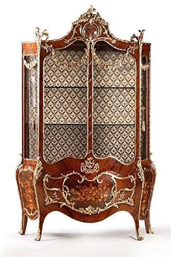 LouisXV Barock Vitrine Rokoko Antik Stil Schrank Louis XV MoVi1680 Antik Stil Massivholz....