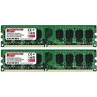 Komputerbay 2GB 2X 1GB DDR2 800MHz PC2-6300 PC2-6400 DDR2 800 (240 PIN) DIMM Memoria Desktop