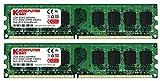 2GB DDR2 Komputerbay 2X1GB 800MHz PC2-6300 PC2-6400 (240 PIN) DIMM Desktop-Speicher