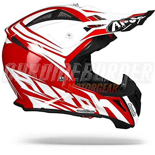 Airoh - casco moto cross airoh aviator 2.2 ready red gloss av22rd55 - caa12c - m