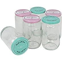 COM-FOUR® 6x Frascos conservantes con tapa roscada