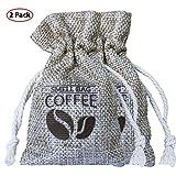 Roval Coffee Smell Bag - Natürlicher Kaffee Geruchseliminator, Luftreinigungsbeutel für Sporttaschen, Auto, Zuhause, Haustierbereiche (2 Pack)
