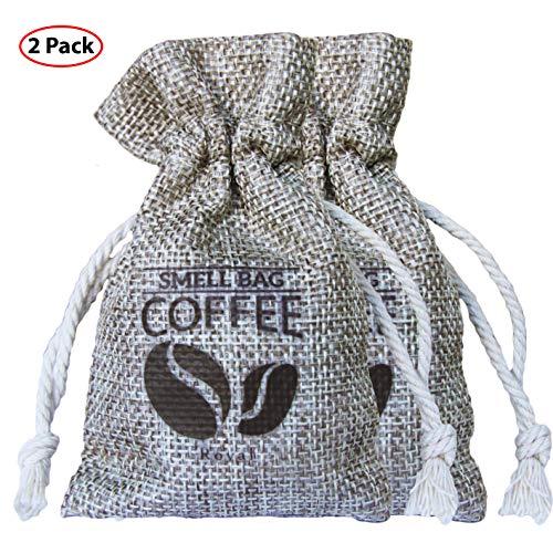 Eco-friendly Kaffee (Roval Coffee Smell Bag - Natürlicher Kaffee Geruchseliminator, Luftreinigungsbeutel für Sporttaschen, Auto, Zuhause, Haustierbereiche (2 Pack))