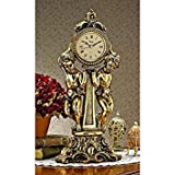 Design Toscano Horloge de cheminée Les deux chérubins d'Amboise