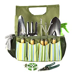 Plant Theatre Essential Garden Tool Bag - Includes Tools - Fathers Day Gift for The Gardener