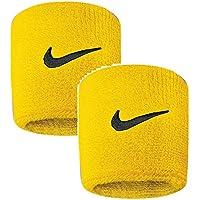 Nike Erwachsene Swoosh Wristbands 721 Schweißband, Amarillo/Black, One Size