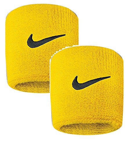 Nike Erwachsene Swoosh Wristbands 721 Schweißband Amarillo/Black One Size