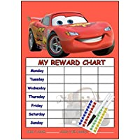 Disney's Cars Re-usable Reward Chart, (including FREE Star Stickers and Pen)